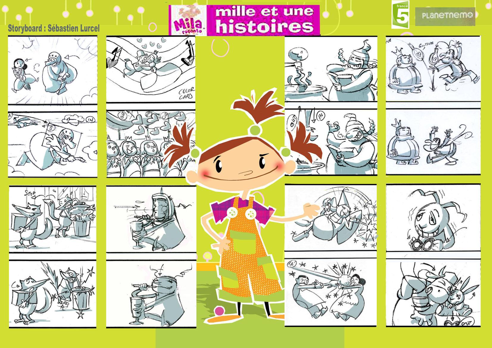 Extraits de Storyboard de la série Titre. 2007