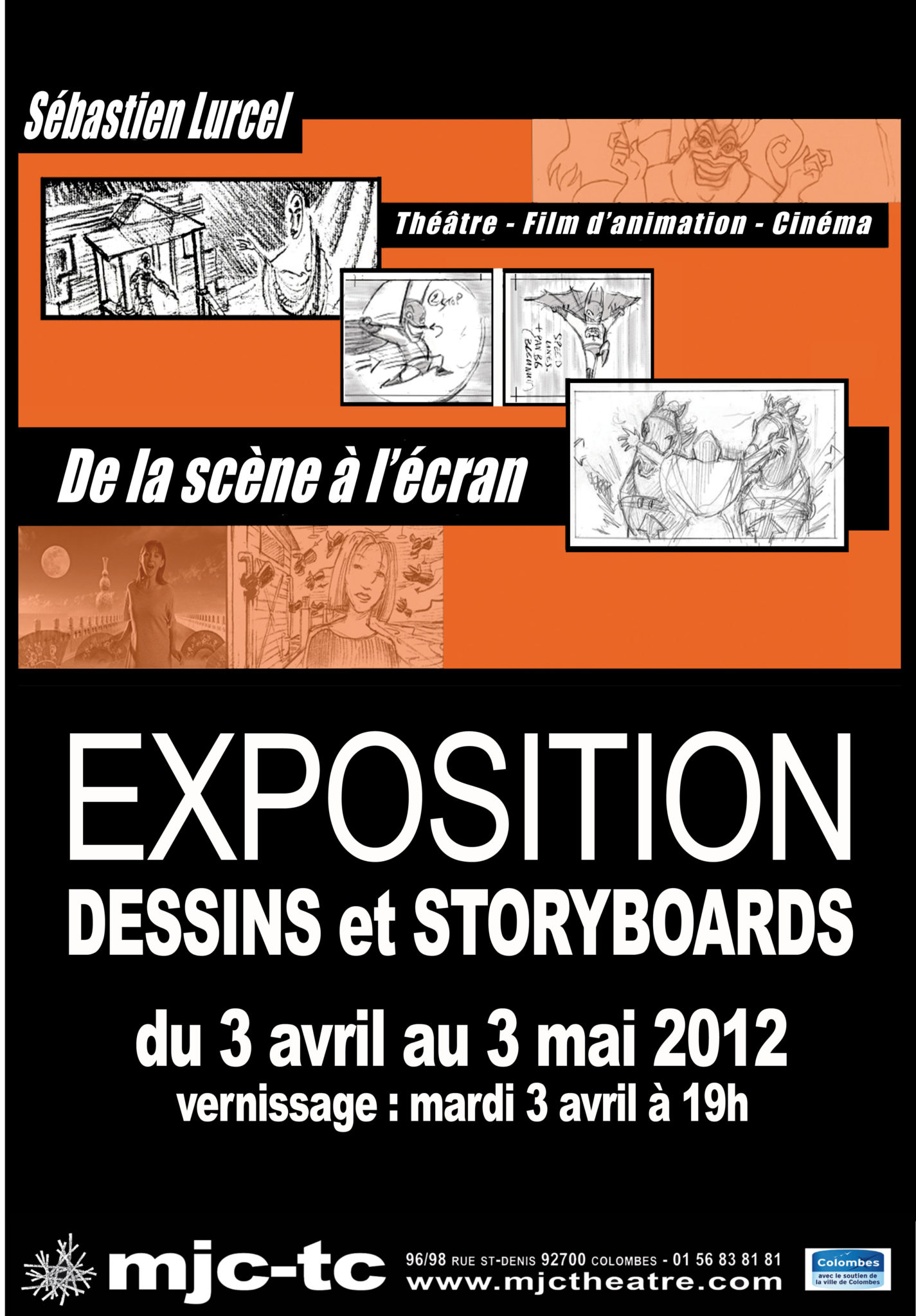 Affiche expo storyboards