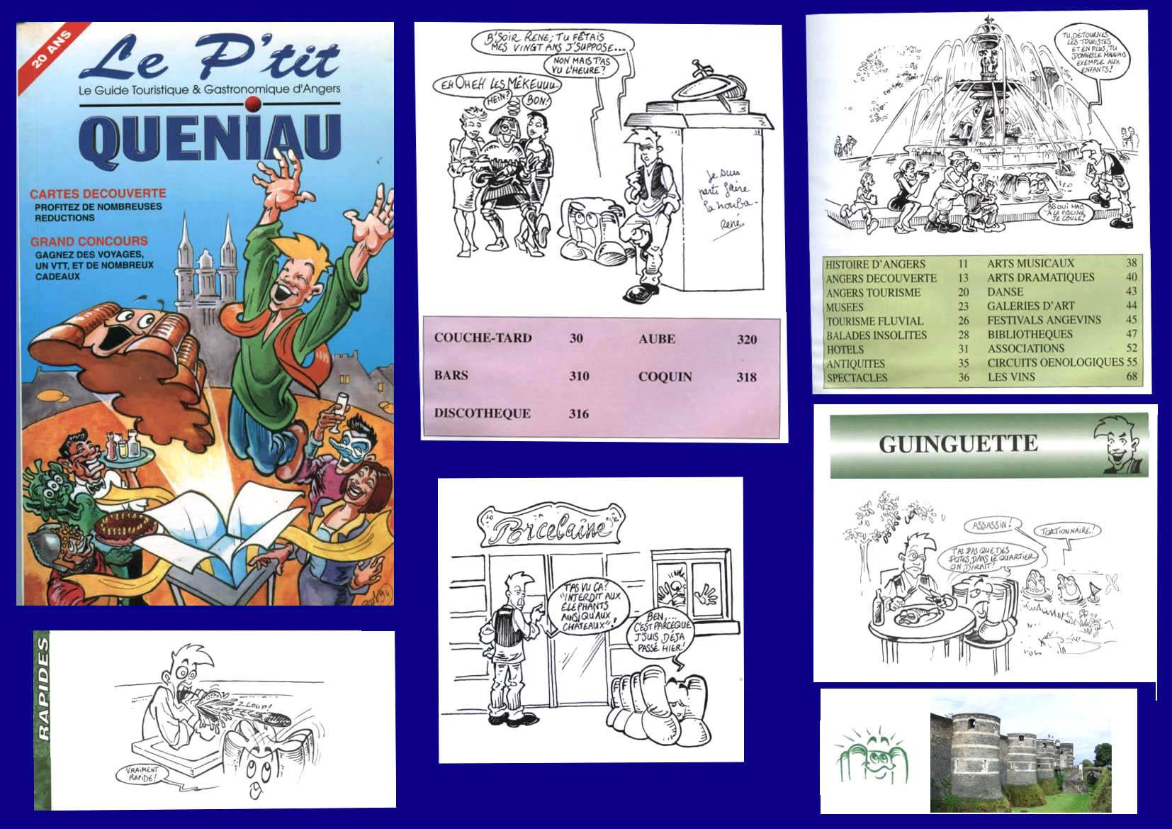ptit queniau.guide touristique d'Angers 1995